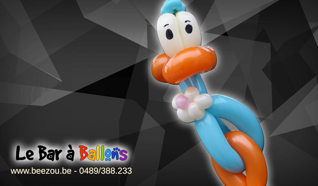 sculpture de ballon canard