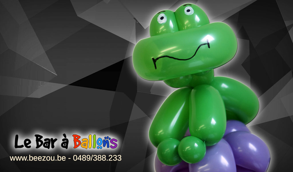 sculpture de ballon grenouille