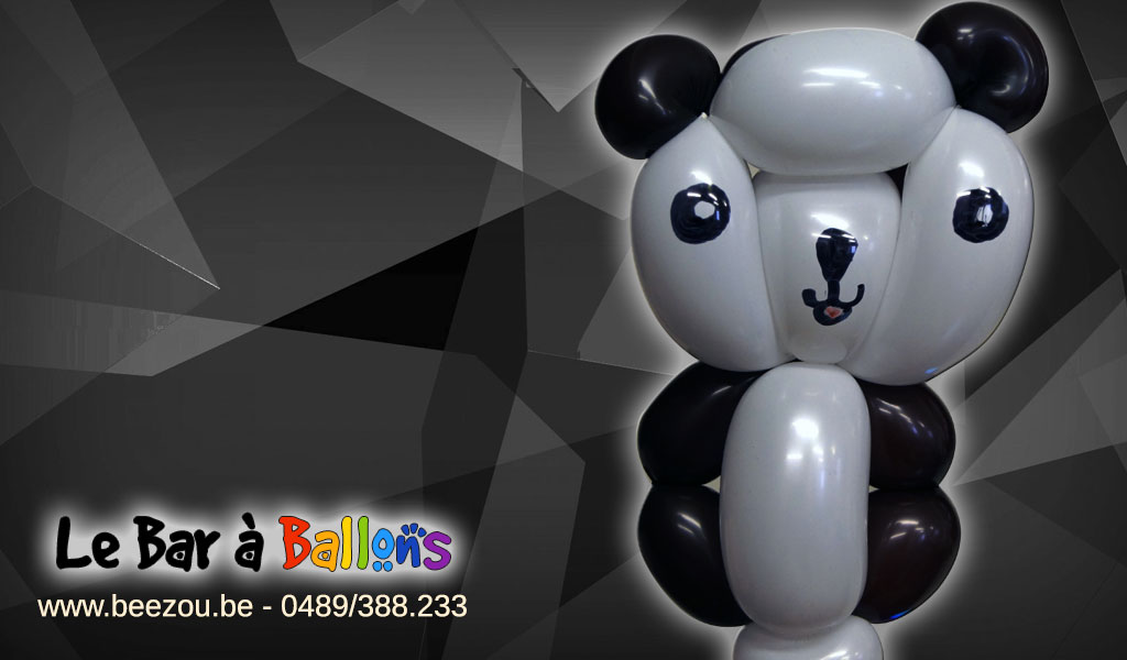 sculpture de ballon panda